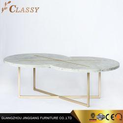 Moderne Verduistering X van de kwaliteit Marmeren Koffietafel met de Gouden Voeten van het Metaal