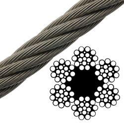 Волоконно-Core 6 X21 яркий/оцинкованных/нержавеющая сталь проволочного каната просверлите линии