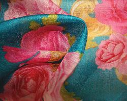 Imprimer l'organza Tissu de coton crêpe blister
