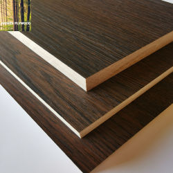Teck Sapeli/Oak//cendres/haute brillance/Matt/gaufré/UV/de la Mélamine MDF naturel de contreplaqué en bois de placage stratifié