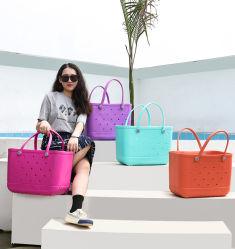2021 Custom Ins Trend originele Bogg Bag Silicone Beach Tote Handtassen Factory met hoogwaardige kunststof EVA-zakken