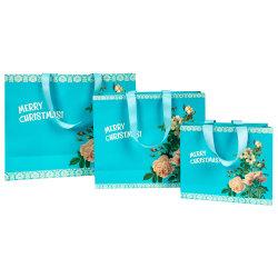 الجملة إعادة تدوير سعر جيد فاخرة هدية التسوق حقيبة الورق المخصصة