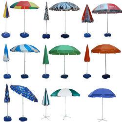 Comercio al por mayor de paja personalizados de plegado/hierba/Boho/margen/sólido/Borla sombrilla de madera precio de fábrica, en el mercado de Sun/pesca/Playa/patio/jardín/Outdoor paraguas con Logo