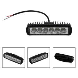 Des 6 Zoll-LED licht-Auto-Zubehör heller Stab-nicht für den Straßenverkehr Flut-Punkt-Arbeits-Licht-18W LED Arbeitsfür LKW ATV 4X4 SUV 12V 24V