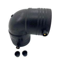 Raccordo di scarico prezzo in plastica da 1600 mm Electro Fusion 90 a gomito PE Raccordo a T per tubi in HDPE da 32 mm per alimentazione acqua