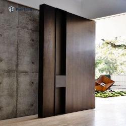 Наружные защитные элементы из дуба большой поворотный стеклянные двери / передней двери входные двери начального уровня