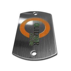 모든 형태의 맞춤 에칭 또는 인쇄 스테인리스 스틸 명판 엠블렘 디자인 로고 금속판 사용
