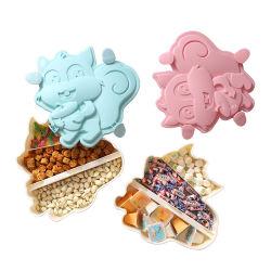 3 compartimentos lindo creativo Caramelos, bocadillos de la bandeja de frutas Caja con tapa y soporte para teléfono