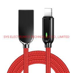 Интеллектуальное зарядное устройство для кабеля Lightning Auto Power off/on 8-контактный USB Зарядка кабель передачи данных для iPhone 12 11 PRO XS макс Кабели USB для зарядного устройства для мобильных телефонов XR X iPad