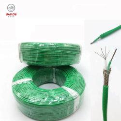 Aislamiento de PVC verde y blanco trenzado Ss Cable del termopar