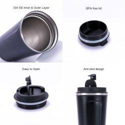Vente à chaud en acier inoxydable de haute qualité Tumbler tasse avec couvercle à double paroi Thermos vierge garder tasse à café chauds personnalisés