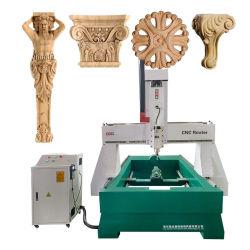 Eixo 4 grande máquina fresadora CNC de trabalho da madeira rotativa 1325 Tabela com 2m de contactor rotativo para Pilar, coluna, figura, esculturas