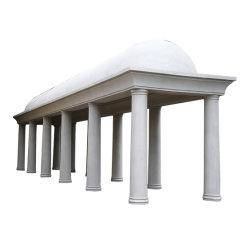 Grcのガラス繊維のコンクリートが付いている屋外の建物の装飾的で物質的なローマのコラム