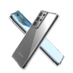 بالنسبة إلى حقيبة S21 من Samsung، يغطي الغلاف الخلفي لعلبة هاتف Amazon Flexible Clear TPU لـ Samsung Galaxy S21 Plus Ultra Fundas