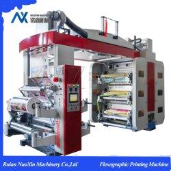 Seis colores de la máquina de impresión flexográfica con el rodillo anilox cerámica