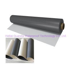 Toit plat PVC Matériaux d'imperméabilisation membrane en PVC renforcé