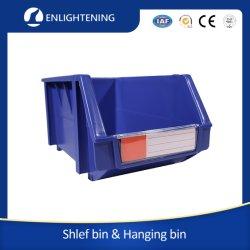 Pk012 Recipiente de pequenas peças de plástico forte volta forte painel com frestas travando empilhável de plástico PP/compartimentos de armazenagem em prateleiras/Caixas para poupar espaço