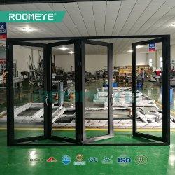 Roomeye Qualitäts-Akkordeon-kundenspezifisches Bi-Faltenaluminium-/Aluminiumfalz-Türen für die große Öffnung mit konkurrenzorientierter Preisbestimmung