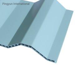 جدار ملفوف (UPVC) مقاوم للأشعة فوق البنفسجية ASA PVC Hollow Roof Tile UPVC) ورقة سقف لزينة السقف مصنع صينية إمداد البلاستيك المضلع ألواح سقف لإندونيسيا