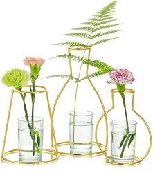 현대적인 실내 장식 골드 메탈 철 화분 스탠드 테이블 결혼식용 플래터 꽃병