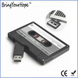 Retro con forma de cinta de cassette unidad flash USB con Logo (XH-USB-112)