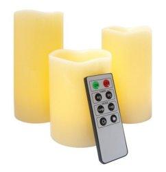 Candela reale della cera LED Flamless con telecomando di multi funzione
