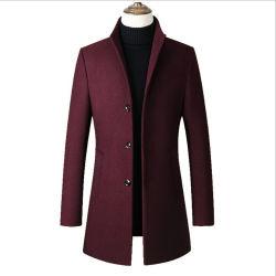 Les hommes de la laine du manteau hommes long manteau de tranchée de laine