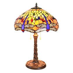 TFT-4264 Vintage Antique Dragonfly 16pulgadas sombra Vidrieras Tiffany Lámpara de mesa
