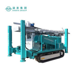 Piattaforma di produzione del pozzo d'acqua di Hfj300c da vendere l'impianto di perforazione di Drilliing del cingolo della perforatrice del pozzo trivellato