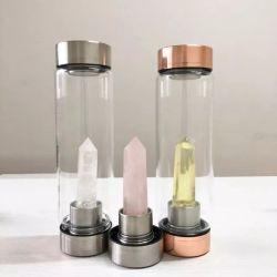 Энергии боросиликатного стекла оптовой Crystal вливания пить воду бутылку логотип на упаковке или органа пользовательского окна Crystal расширительного бачка для подарков
