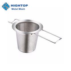 Roestvrijstalen thee-infuser-strainer met opvouwbaar handvat