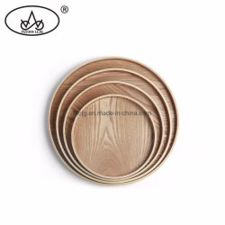 El té de la ronda de utensilios de cocina la cena de la placa de contrachapado de madera MDF cerveza circular los alimentos de la bandeja de servicio de Snack
