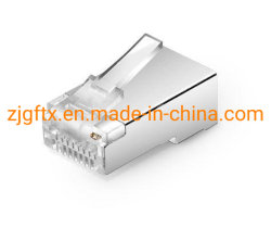 La fibra óptica Plug modular Cat5e