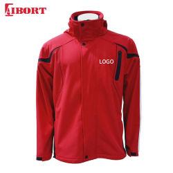 Logo personnalisé Aibort OEM Windproof veste Softshell imperméable avec capot