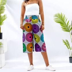 África Imprimir moda al por mayor de la Cera Pantalones Pantalones Plus Size ropa para mujeres