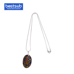 Bestounter Sublimation Oval Shell Halskette Fashion Jewelry Geschenk (25 * 38mm)