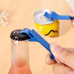 Liga de alumínio Keychains Multifunção Ring-Pull abridor de garrafas de cerveja pode