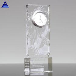 Desk Awards cristal de diamant de Cube faveurs de mariage Cadeaux souvenirs de l'horloge