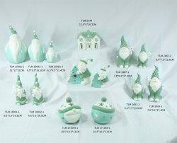 Рождество праздник Керамический декор свечи держатель