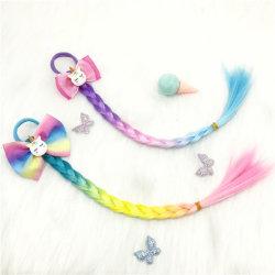 Мода Unicorn крутыми Rainbow оплетка волосы Band Wig детей