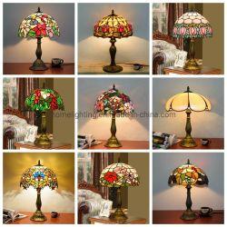 """Стиль """"Тиффани настольные лампы из витражного стекла ручной работы тени письменный стол лампа"""