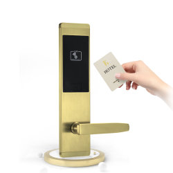Comercio al por mayor sin llave RF Cerradura electrónica para los huéspedes del Hotel Habitación cerradura de puerta inteligente