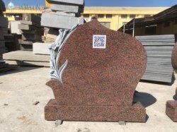 La Chine granit rouge Haobo Tombstone prix bon marché de gros de Pierre Pierre tombale