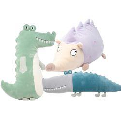 Os dons de almofadas de pelúcia personalizado Gator Hedgehog macio de algodão brinquedo animais taxidermizados travesseiro ajustável