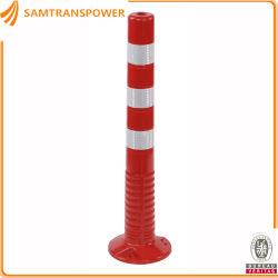 La seguridad del tráfico de material de poliuretano flexible Post naranja o rojo D200H750mm