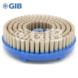 Disque abrasif brosse en nylon pour l'ébavurage, diamètre 160 mm avec Oxyde d'aluminium