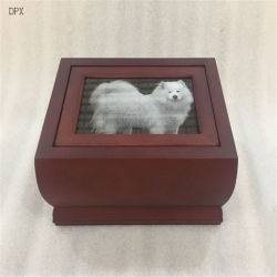 Le bois Animal Coffin Hot Dog Pet en bois de vente à la crémation urne avec Picture Frame