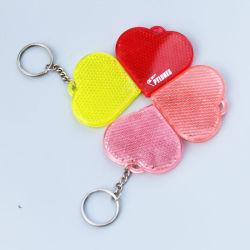 Forme de coeur pour les enfants de la chaîne de clé réfléchissant (JG-T-12)