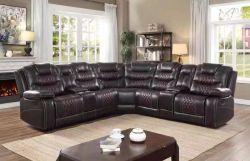 Un mobilier moderne coin inclinables canapé avec l'air en cuir
