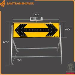 Светодиодный индикатор знак солнечной энергии за безопасность дорожного движения One-Side L1260*W60*H1240мм
